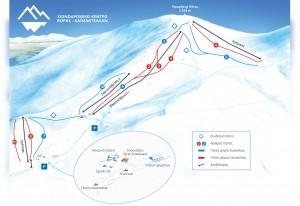 Kaimaktsalan Slopes-Ski Map / Χάρτης Πιστών-σκι Καϊμακτσαλάν