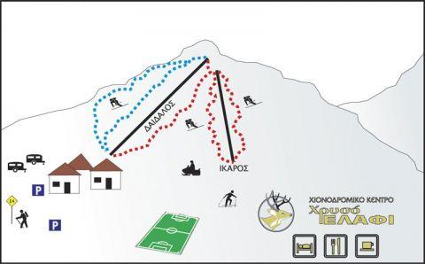 Chriso Elafi Slopes-Ski Map / Χάρτης Πιστών-Σκι Χρυσό Ελάφι