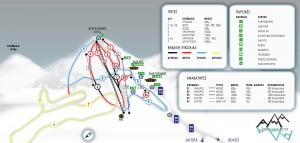 Pelion Slopes-Ski Map / Χάρτης Πιστών-Σκι Πήλιο