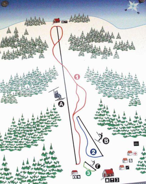 Pertouli Slopes-Ski Map / Χάρτης Πιστών-Σκι Περτούλι