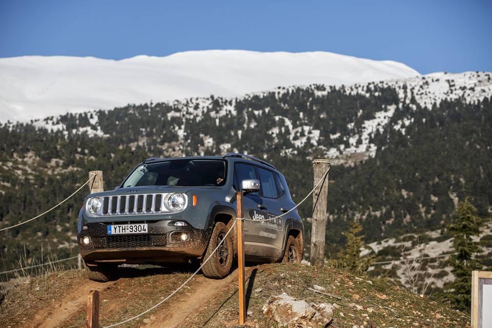 Jeep Renegade test drive JeepCamp JeepWinterProof Αραχωβα Παρνασσός