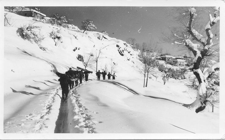 Ο δρόμος του χιονιού...