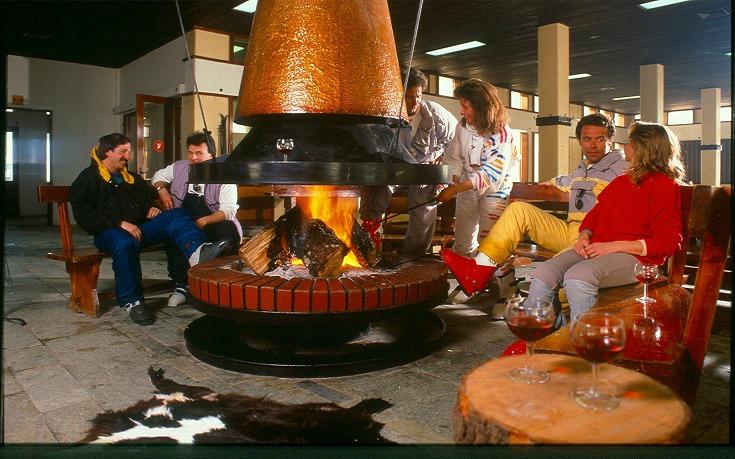 Ποτό και χαλάρωση μετά το σκι στην Φτερόλακκα, 1978
