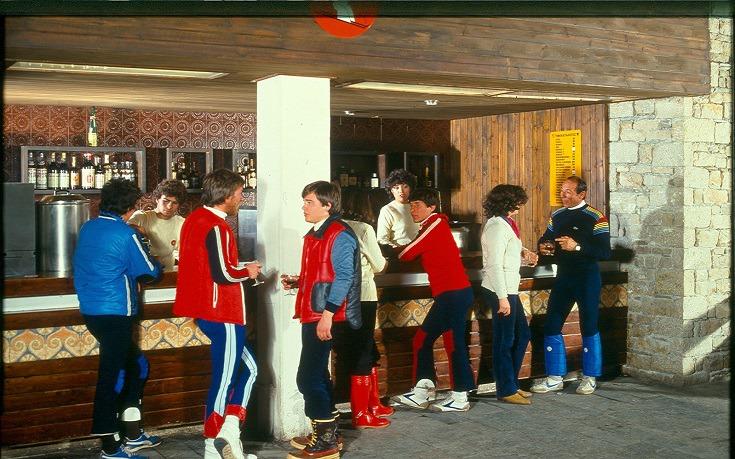 Ποτό μετά το σκι στην Φτερόλακκα, 1978
