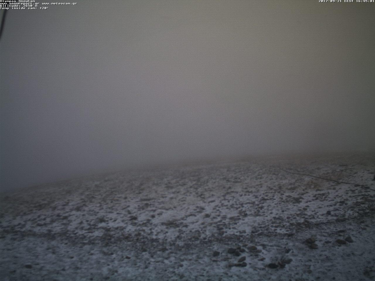 Το πρώτο χιόνι στον Όλυμπο